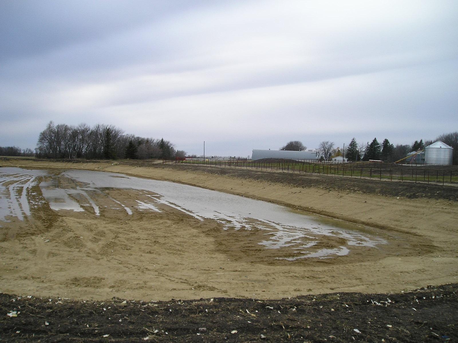 liquid animal waste evaporation pond