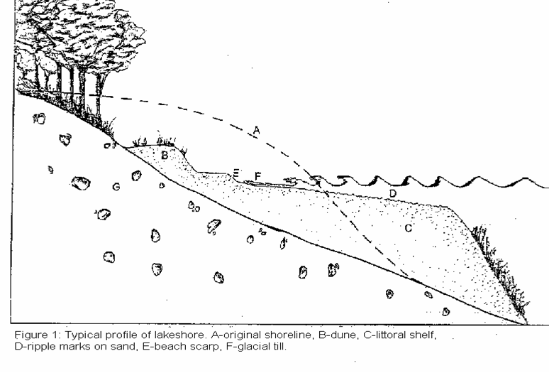 lake shoreline erosion drawing