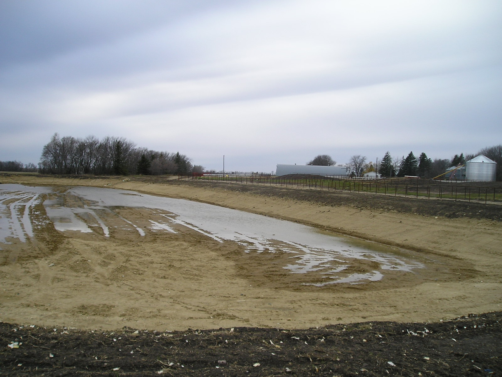 liquid animal waste evaporation pond